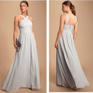 NWT Lulu's Air of Romance Grey Maxi Dress Large